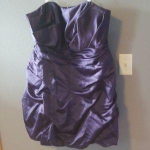 Sweetheart neckline satin strapless dress